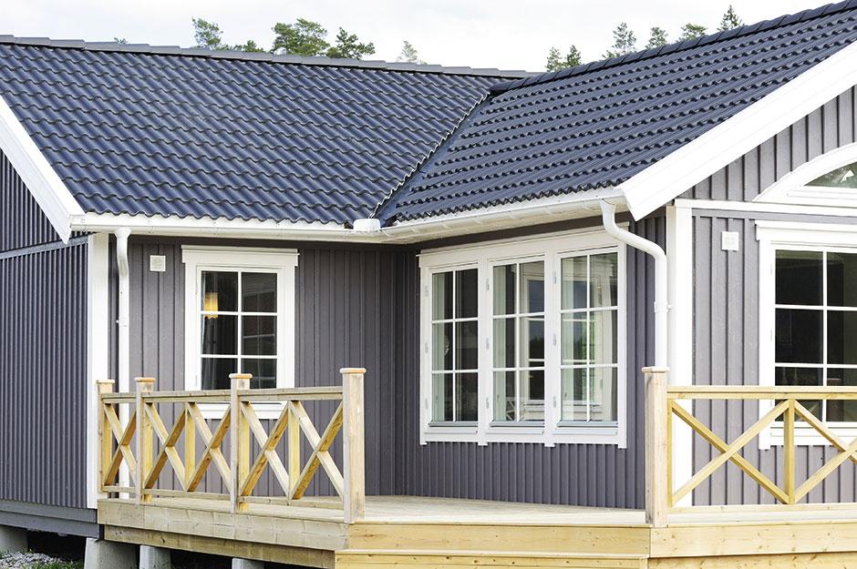 Utomhusfärg för fasader, socklar och staket